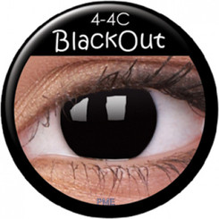 ColourVue Crazy Lens Contact Lenses - Black Out