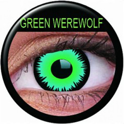 ColourVue Crazy Lens Contact Lenses - Green Werewolf