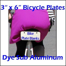 "Dye Sublimation Products 3"" x 6"" Aluminum Bicycle Plate Blanks, .032"" Thick"