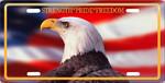 American Eagle Aluminum Auto License Tag
