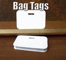 "Aluminum Dye Sub ID or Bag Tag Blanks, Name Badges 4-5/8"" x 3"" Lot of 50PCs"