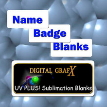 50ea Name Badge Blanks for Sublimation 1.25 x 3