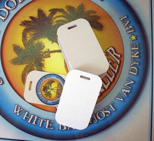 "50ea Aluminum Dye Sublimation Luggage Tag Blanks 2"" x 3-1/2"""
