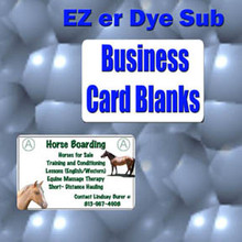 "50- Aluminum Dye Sublimation Business Card Blanks 2"" x 3-1/2""  with 1/4"" Corners"