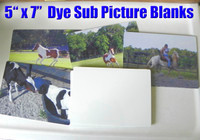 "5"" x 7"" Aluminum Dye Sublimation Picture Blanks"