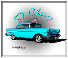 1957 Chevy Belair Graphic Art High Gloss Picture Perfect Aluminum Panel