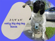"2-1/4"" x 4"" Dye Sublimation Oversized Dog Tag Blanks- Lot of 5"