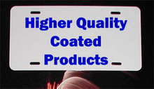 ".025"" UV PLUS! Sublimation Aluminum Auto License Plate Blanks-FREE DEL ON 200PCS"
