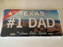 "High Gloss Embossed Aluminum  License Plate Prints TX "" #1DAD "" LOT of 100PCS"