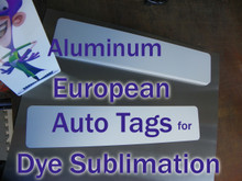 European Auto License Plate Blanks for Dye Sublimation