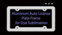 10PCs Auto License Plate Frame Blank for Aluminum Dye Sublimation $1.99 each
