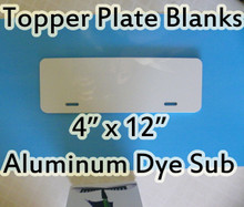 Auto License Plate Topper Aluminum Sublimation Blanks
