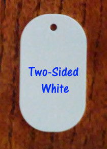 Two Sided Gloss White Aluminum Dye Sublimation Dog Tag Blanks -500PCs @ $0.23ea