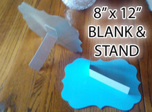 "Stand and 8"" x 12"" Aluminum Dye Sublimation Benelux Style Blanks"