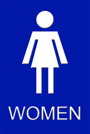 "Womens Bathroom Sign 12"" x 8"" High Gloss Aluminum Digital Grafx"