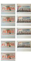 "Wholesale .025"" high gloss embossed aluminum  license plate prints in perfect condition LOT of 100PCS"