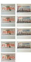 Embossed Aluminum Auto License Plates, LOT of 100PCS
