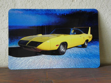 "Plymouth Road Runner Superbird Graphic Art Print on 8"" x 12"" Aluminum Panel"