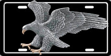 Pewter Eagle Aluminum Auto Tag