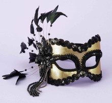 HALF MASK BLACK/GOLD