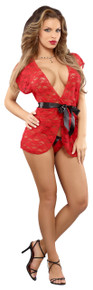 WRAP & G-STRING RED S/M (LUV LACE)