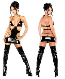 Mini Cut out Dress/ G-Set Black L/X(LIQUID ONYX)