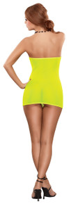 MESH TUBE DRESS & G-STRING YELLOW O/S (NEON ACCESSORY)
