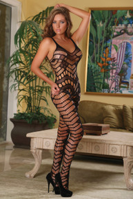 CLUB SEAMLESS CROTCHLESS CATSUIT BLK O/S