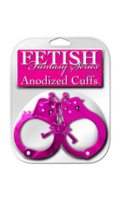 FETISH FANTASY ANODIZED CUFFS PINKS