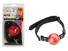 2IN RED BALL GAG W/D RINGS