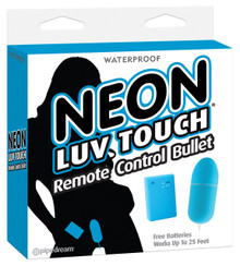 NEON LUV TOUCH REMOTE CONTROL BULLET BLUE