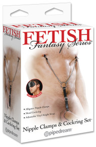 FETISH FANTASY NIPPLE CLAMPS & COCK RING SET