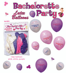 BACHELORETTE PARTY BALLOONS 12PC