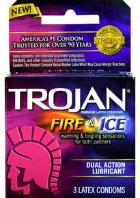 TROJAN PLEASURES FIRE & ICE 3PACK