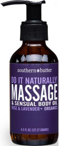 BODY & MASSAGE OIL ROSE & LAVENDER 4 OZ