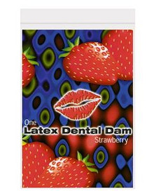 DENTAL DAM STRAWBERRY