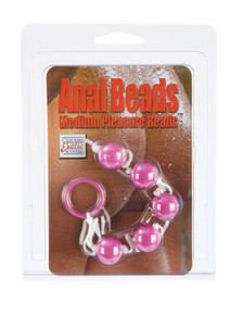 ANAL BEADS-MED-ASST COLORS