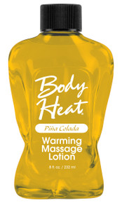 BODY HEAT WARMING MASSAGE LOTION PINA COLADA
