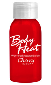 BODY HEAT WARMING MASSAGE LOTION 1OZ CHERRY