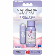 CANDILAND SUGAR BUZZ MASSAGE SET RED LICORICE