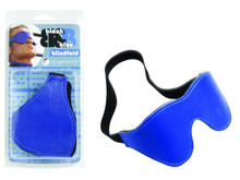 FUR BLINDFOLD BLACK & BLUE