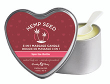 CANDLE 3-N-1 HEART SPIN THE BOTTLE 4.7 OZ