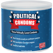 POLITICAL CONDOM ASSORTED 40PC