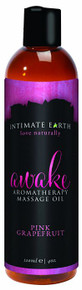 INTIMATE EARTH AWAKE MASSAGE OIL 4OZ
