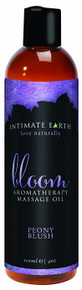 INTIMATE EARTH BLOOM MASSAGE OIL 4OZ