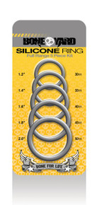 BONEYARD SILICONE RING 5PC KIT GREY