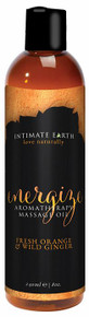 INTIMATE EARTH ENERGIZE MASSAGE OIL 8 OZ