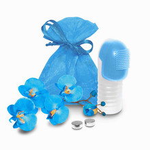 FUZU VIBRATING FINGER MASSAGER NEON BLUE