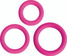 GOSSIP LOVE RING TRIO MAGENTA