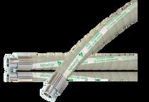 Novaflex UHMW FDA Food Transfer Hose Assembly (Tri-Clamp x Tri-Clamp)